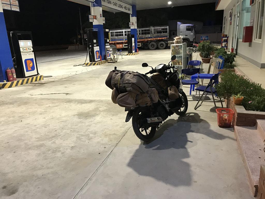Наш мопед на котором мы ехали из Вьетнама в Лаос