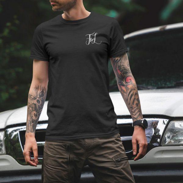 Черная Мужская футболка Маленький логотип FWL. Магазин