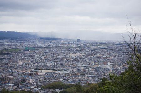 Стена дождя над Киото