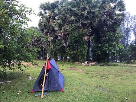 В палатке на Пхукете