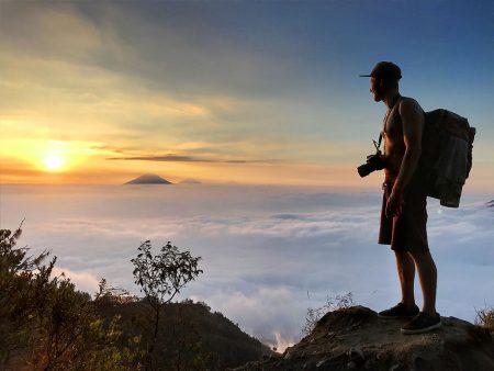 Sunset on Volcano Merapi, Indonesia. 16.07.2019