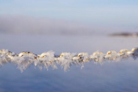 Angara river, Siberia, Russia. 21.12.2013 1