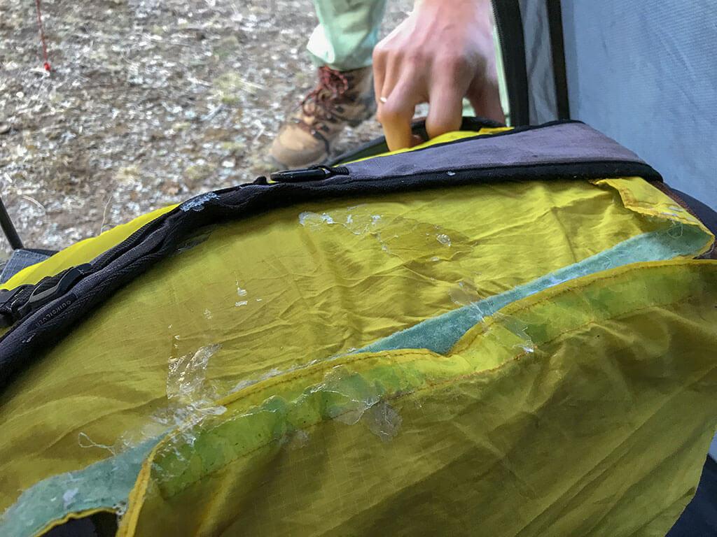Лёд на рюкзаке